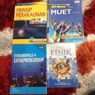 Assorted Books > Perakaunan/Muet/Hubetnik/Entrepreneurship