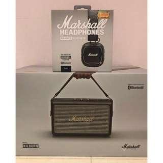 Marshall Kilburn 喇叭+ Major II BT 耳機🎧