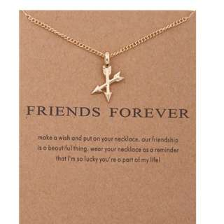 Friends Forever gold color necklace