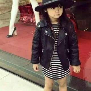Jaket kulit anak wanita murah casual