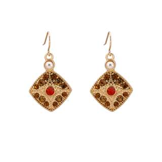 Gold geometric square earrings