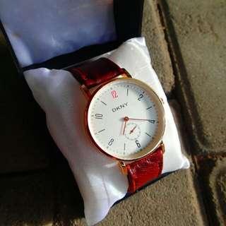 Jam tangan strap kulit asli