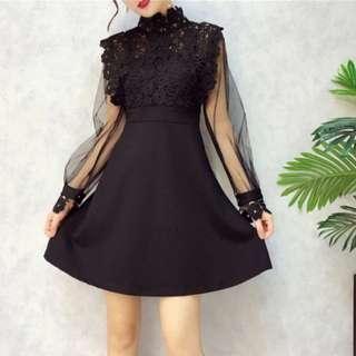 Lace hollowout dress