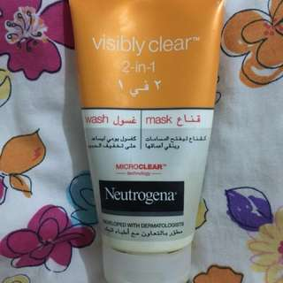 REPRICED!! NEUTROGENA Facial Wash and Mask