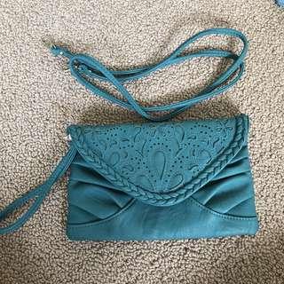 Blue Pattern Clutch