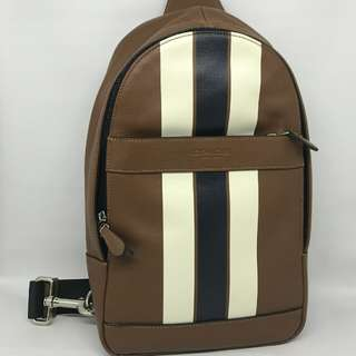 Coach Charles Sling Pack Saddle Stripes
