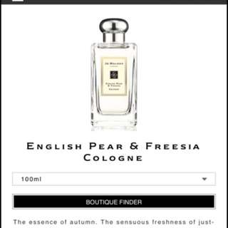 BNIB Jo Malone Cologne 100ml freesia pear