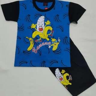 Kaos setelan anak laki banana 2
