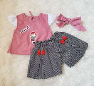 Cute Baby Girl Casual + Cute Ribbon
