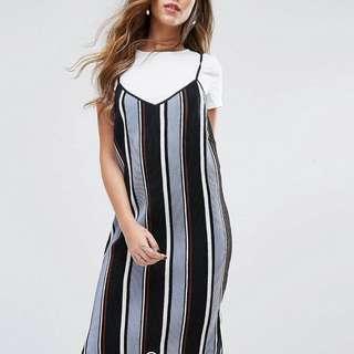 🚚 Missguided uk6條紋分開兩件式洋裝