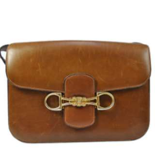 """Vintage"" CELINE Brown Leather Shoulder Bag"