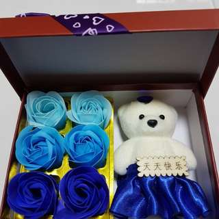 Lovely Flower soap & Friendship Roses
