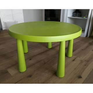 IKEA  MAMMUT Children's table, in/outdoor   green