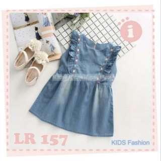 TiaGB Baju Dress Anak Perempuan Cewek LR 157  (no barter, no nego)