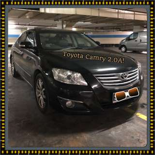 TOYOTA CAMRY 2.0 AUTO!  Promo Now! Petrol Saver Proven! 18% off petrol Card! Lowest Price! Can Drive For Uber/Grab/Sixtnc! Flexible Rental Scheme! Personal User! Call Now!