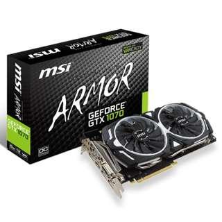 MSI GeForce GTX 1070 ARMOR 8GB OC gtx1070