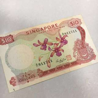 Singapore Orchid Series $10
