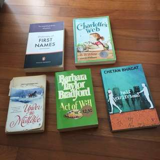 Books (all for $10)