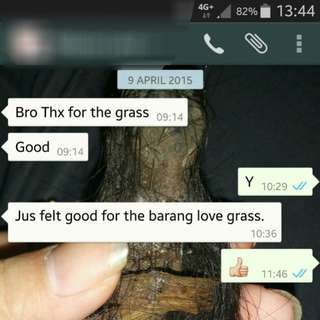Customer review after taking love grass.