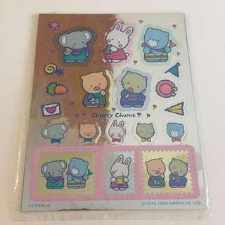 Sanrio vintage Cheery Chums 貼紙 1986