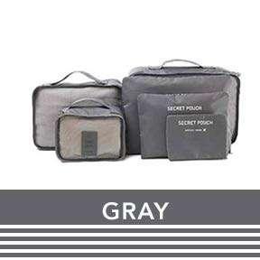 6pcs Travel bags & pouches