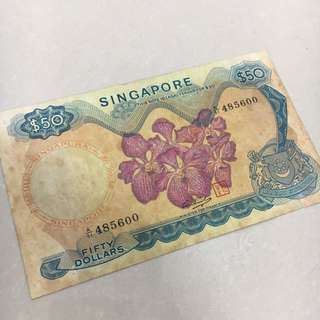 Singapore Orchid Series $50