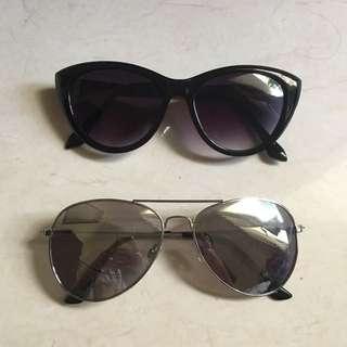 H&M Sunglasses (model Ray Ban) & Cat Eye Sunglasses