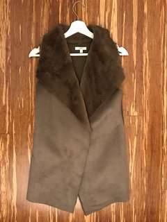 Brown vest - M Boutique