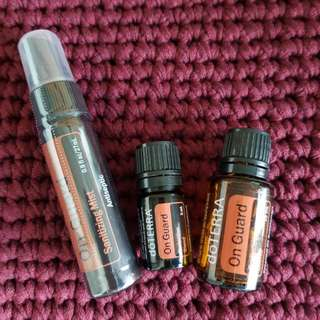 On Guard blend and sanitising mist set doterra