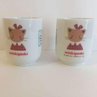 Sanrio vintage Winkipinki 茶杯 1991