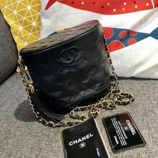 SOLD 售完Vintage chanel 中古黑色金鏈手袋