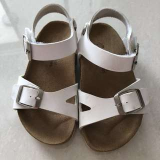 White kids sandals