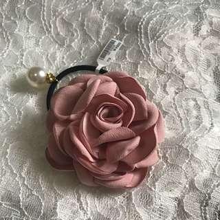 韓國粉紅大花頭飾