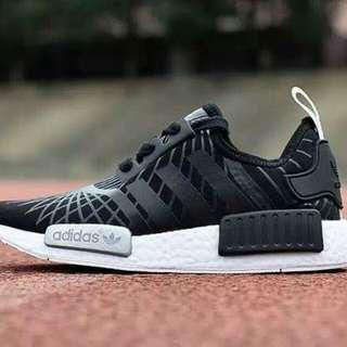 Adidas nmd black silver