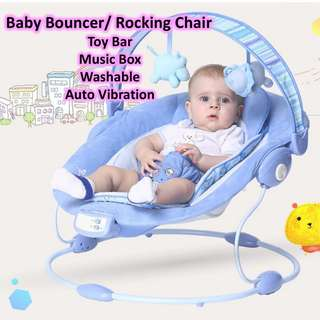 Pre Loved - 50% Off! Baby Rocker Bouncer ♥ Kids Rocking Chair ♥ Portable Baby Music Bouncer ♥ Vibrate Chair