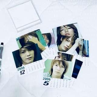 🚚 龜梨和也 2006小月曆 鏡子掛飾