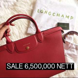 BRAND NEW WITH PB LONGCHAMP HERITAGE L RED