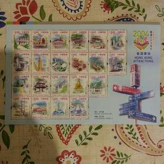 香港郵票-香港景致($1.4x21張)