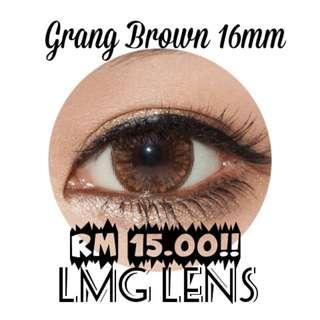 GRANG 16MM BROWN & GRAY CONTACT LENS
