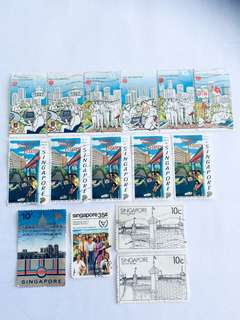 Promotion Lot: S'pore Old Stamps