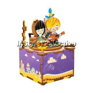3D DIY Musical Box / Wooden Puzzle - AM303: Summer Romance