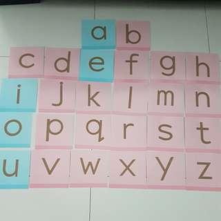 Sandpaper Alphabet Cards