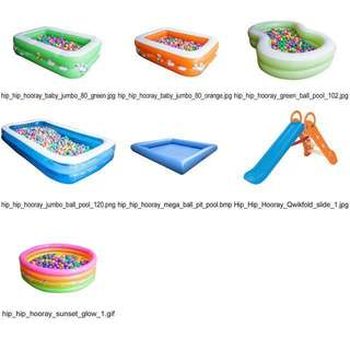 RENTAL - Small to X-Large Ball Pit Pool with Colourful Balls