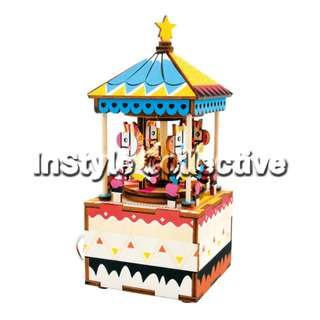 3D DIY Musical Box / Wooden Puzzle - AM304: Merry Go Round