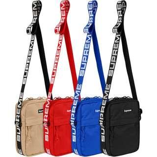 Supreme Shoulder Bag SS18 Black Red 預計2月尾到貨