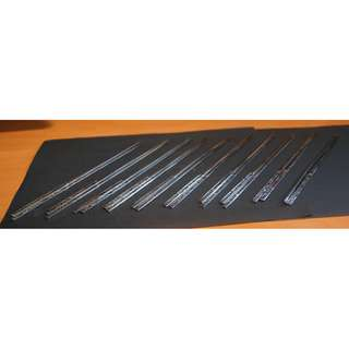 10 Pairs of Stainless Steel Chopsticks