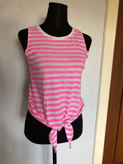 Pink/white striped F21 shirt
