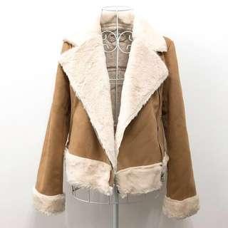 🎊減價包順豐 🎊RENAI KEIKAKU麂皮毛毛外套
