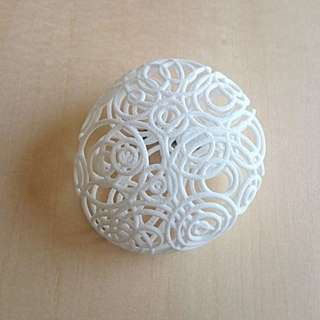 Ripple White Brooch