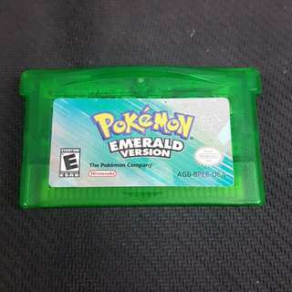 GBA Pokemon Emerald (Authentic) (Used Game)